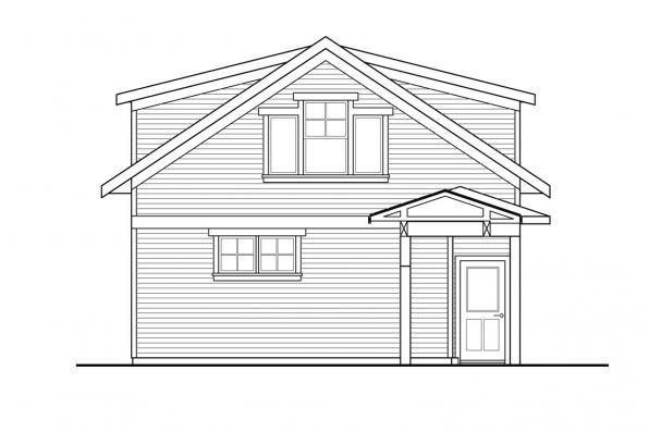 Garage Design 20-221 - Rear Elevation