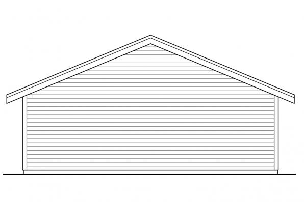 Garage Design 20-222 - Rear Elevation