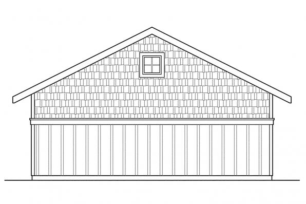 Garage Design 20-003 - Rear Elevation