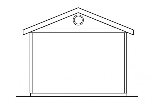 Garage Design 20-004 - Rear Elevation