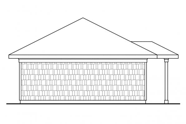 Garage Designs 20-006 - Rear Elevation