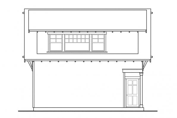 Garage Design 20-007 - Rear Elevation