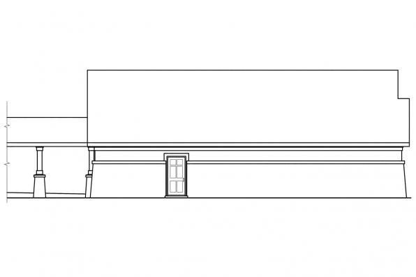 Garage Designs 20-019 - Rear Elevation