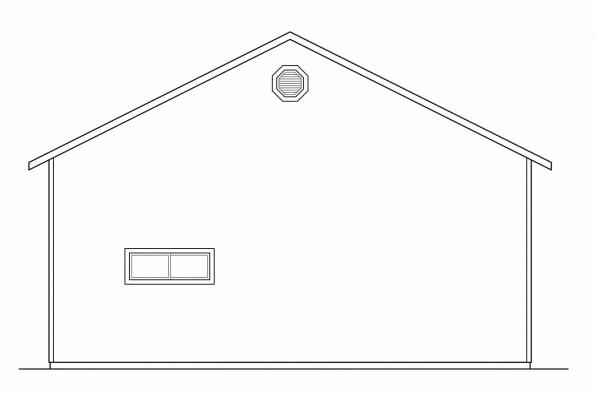 Garage Design 20-027 - Rear Elevation