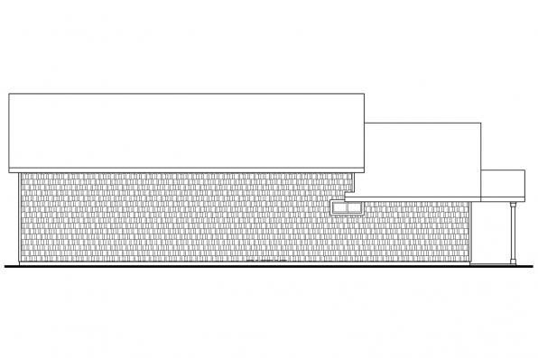Garage Design 20-042 - Rear Elevation
