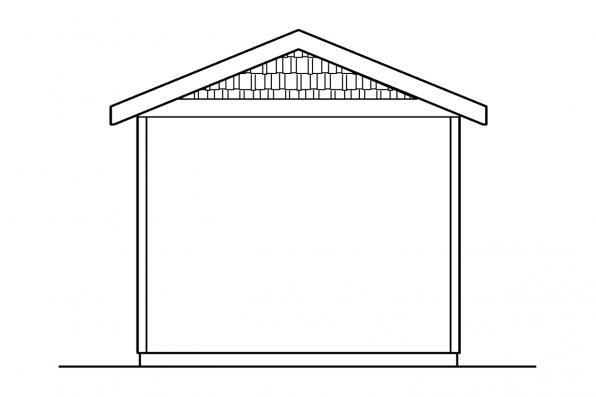 Garage Design 20-045 - Rear Elevation