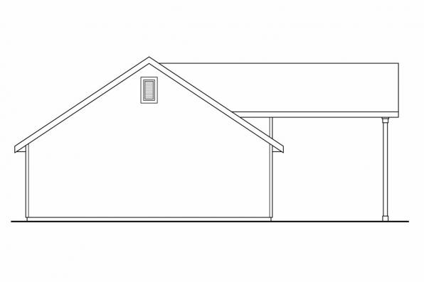 Garage Design 20-046 - Rear Elevation