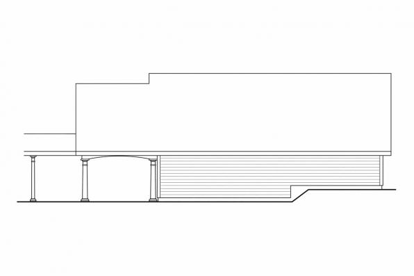 Garage Design 20-074 - Rear Elevation