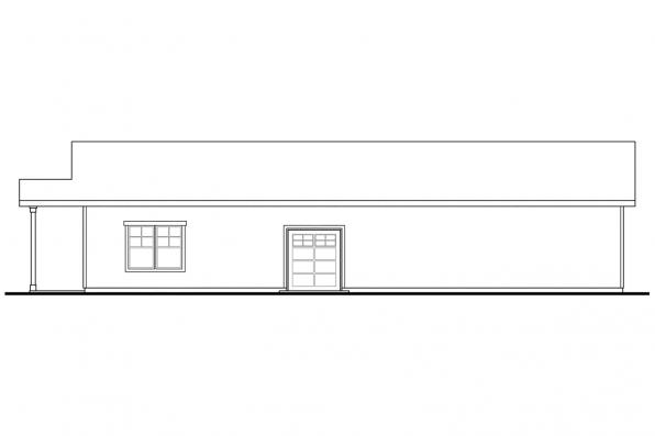 Garage Design 20-089 - Rear Elevation