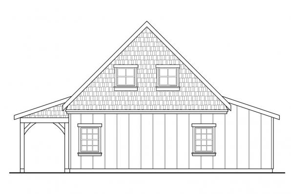 Garage Design 20-100 - Rear Elevation