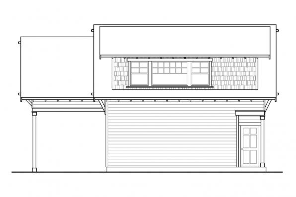 Garage Design 20-111 - Rear Elevation