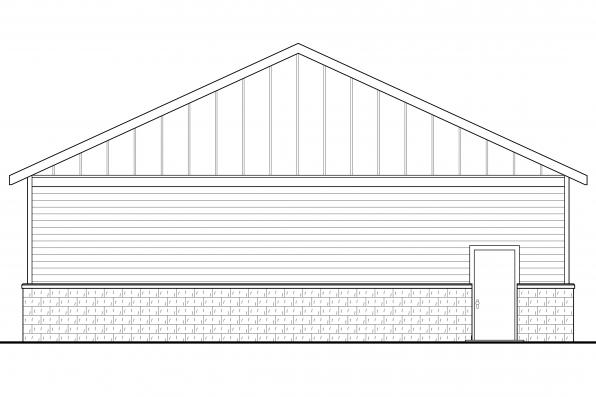Garage Design 20-131 - Rear Elevation