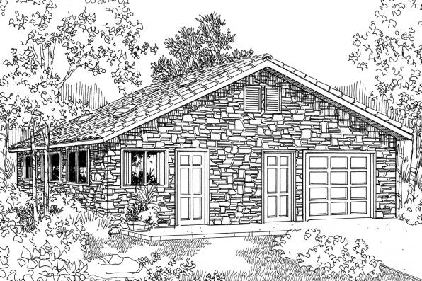 Garage Plan 20-001 - Front Elevation