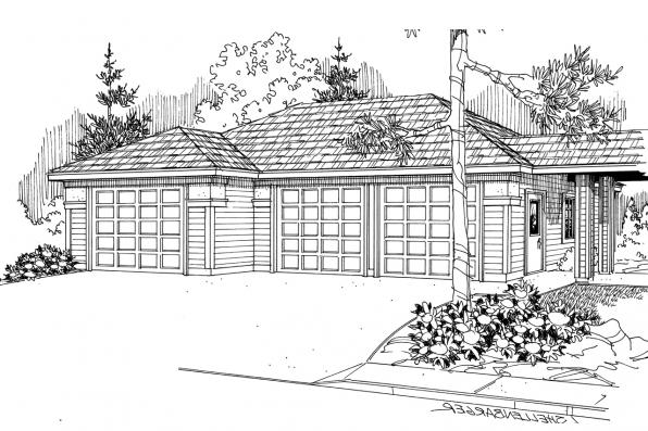 Garage Plan 20-011 - Front Elevation
