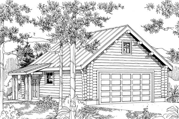 Garage Plan 20-012 - Front Elevation