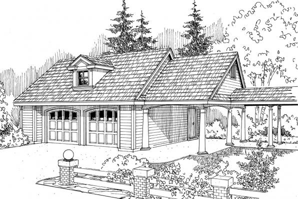 Garage Plan 20-015 - Front Elevation