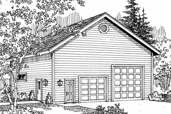 Garage Plan 20-027 - Front Elevation