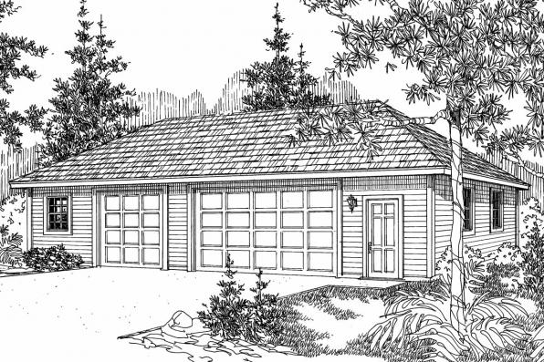 Garage Plan 20-029 - Front Elevation