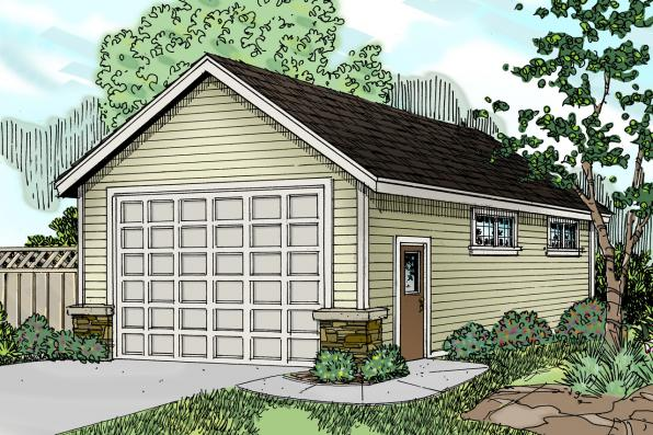 Carport Plan 20-062 - Front Elevation