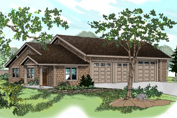 Garage Plan 20-042 - Front Elevation