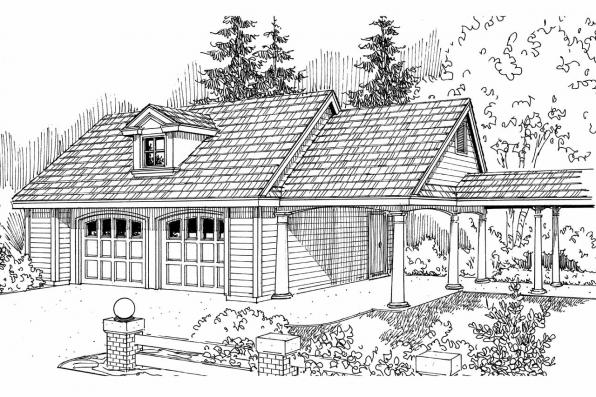 Garage Plan 20-075 - Front Elevation