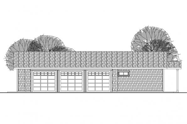Garage Plan 20-089 - Front Elevation