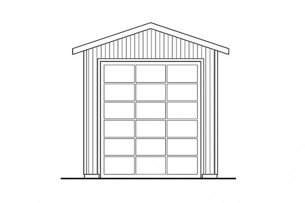 Garage Plan 20-090 - Front Elevation