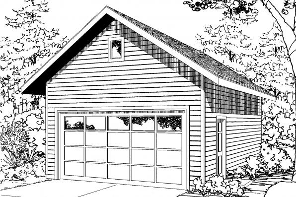 Garage Plan 20-135 - Front Elevation