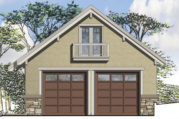 Front Elevation Mirror : European house plans car garage associated