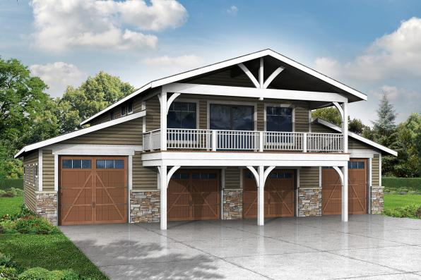 Country house plans garage w rec room 20 144 for Shop house combination plans
