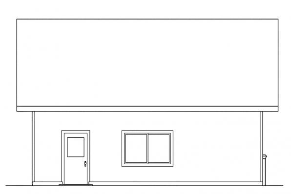Garage Plan With Attic 20-005 - Right Elevation