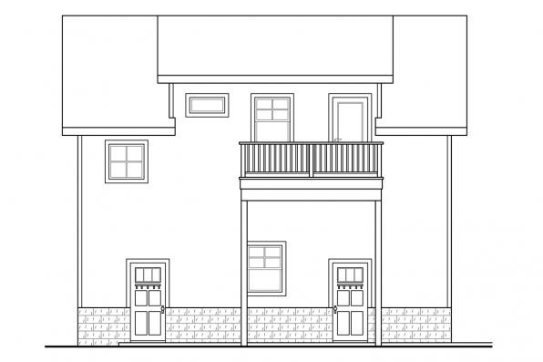 Garage Plan with Living 20-063 - Right Elevation
