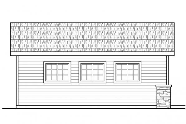 Garage Plan with Shop 20-190 - Right Elevation