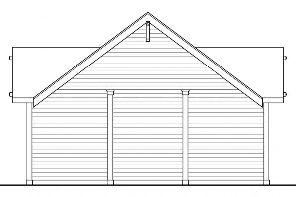 Garage Plan with Carport 20-092 - Right Elevation