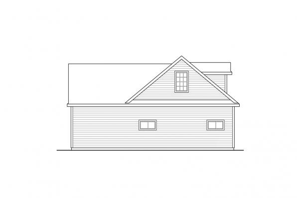 Garage Plan with Recreation Room 20-166 - Right Elevation