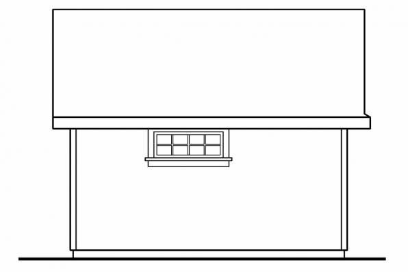 Garden Shed Plan 20-031 - Right Elevation