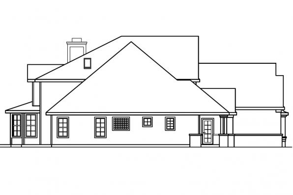 Georgian House Plan - Bellingham 30-429 - Right Elevation