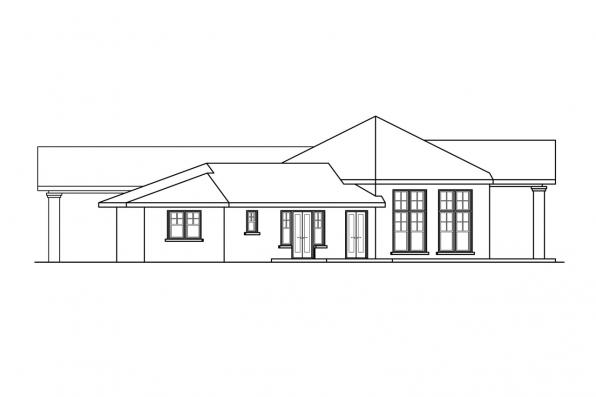 Georgian House Plan - Georgetown 10-576 - Left Elevation