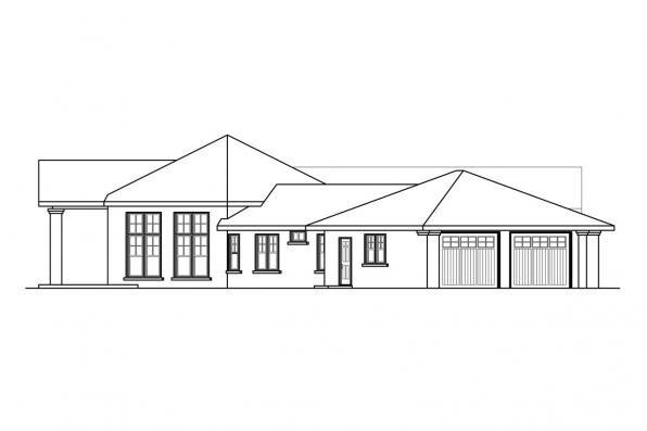 Georgian House Plan - Georgetown 10-576 - Right Elevation