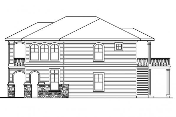 Georgian House Plan - Marianna 30-592 - Left Elevation