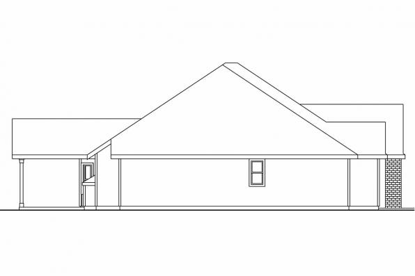 Georgian House Plan - Porterville 30-695 - Right Elevation