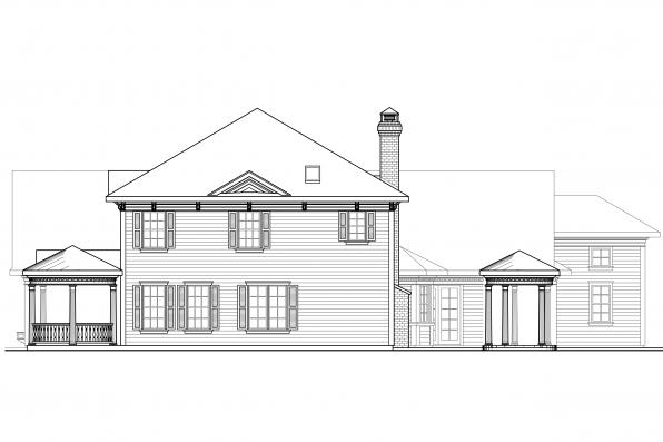 Georgian House Plan - Randell 30-395 - Left Elevation