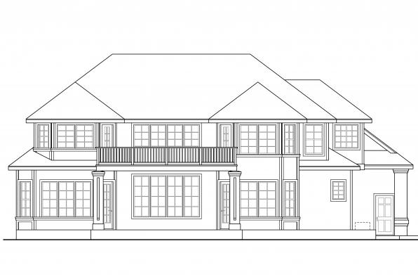 Georgian House Plan - Reynolds 30-396 - Rear Elevation