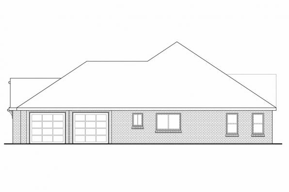 Georgian House Plan - Winterberry 30-742 - Left Elevation