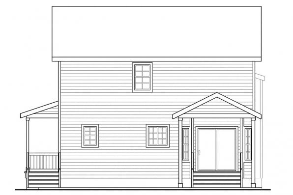 Green House Plan - Green Acres 70-003 - Rear Elevation