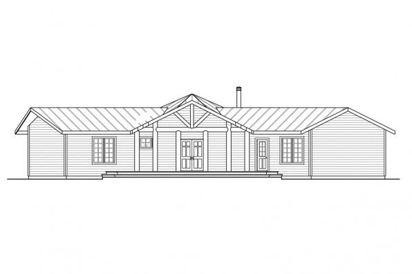 Lodge Style House Plans - Bismarck - Rendering