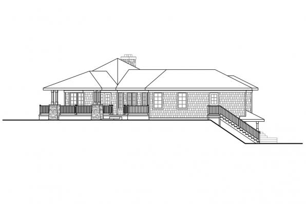 Hexagonal House Plan Illahe 10-575 Right Elevation