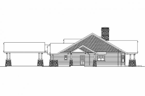 House Plan with Detached Garage - Arborgage 30-654 - Left Elevation
