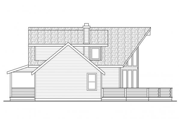 Lodge Style House Plan - Alpenview 31-003 - Right Elevation