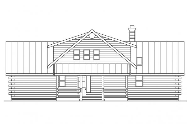 Log Home Floor Plan - Aspen 30-025 - Rear Elevation